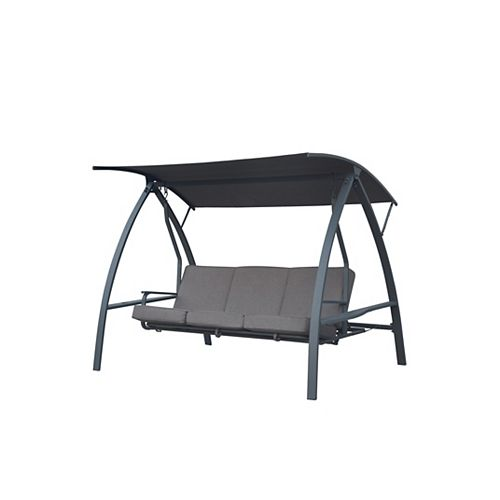 Hampton Bay Deluxe Three-Person Outdoor Daybed Swing