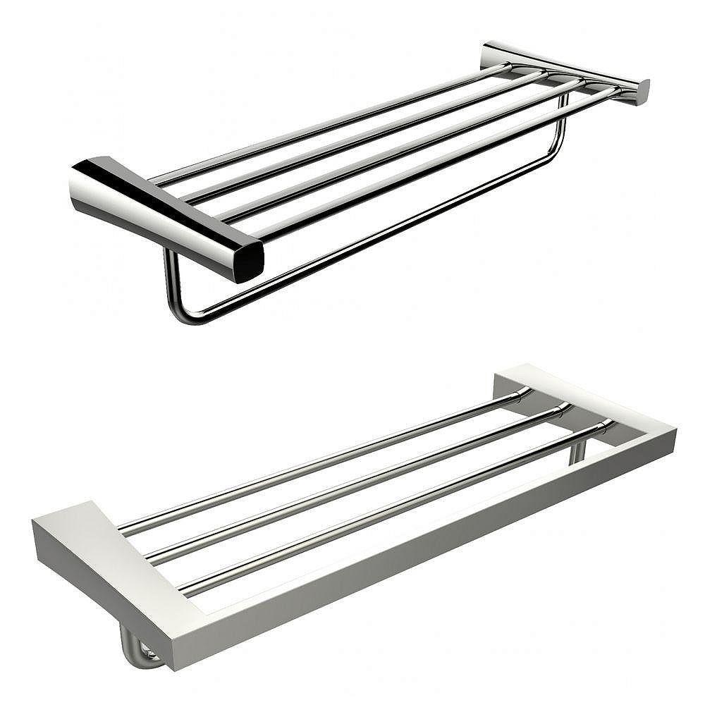 American Imaginations Single Rod And Multi-Rod Towel Rack Accessory Set