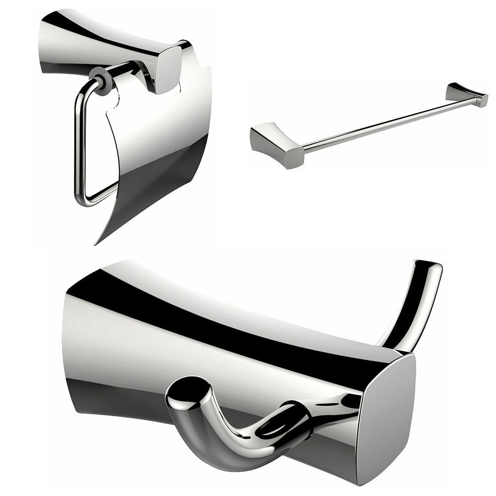 American Imaginations Robe Hook, Toilet Paper Holder Et simple tige Porte-serviettes Accessory Set
