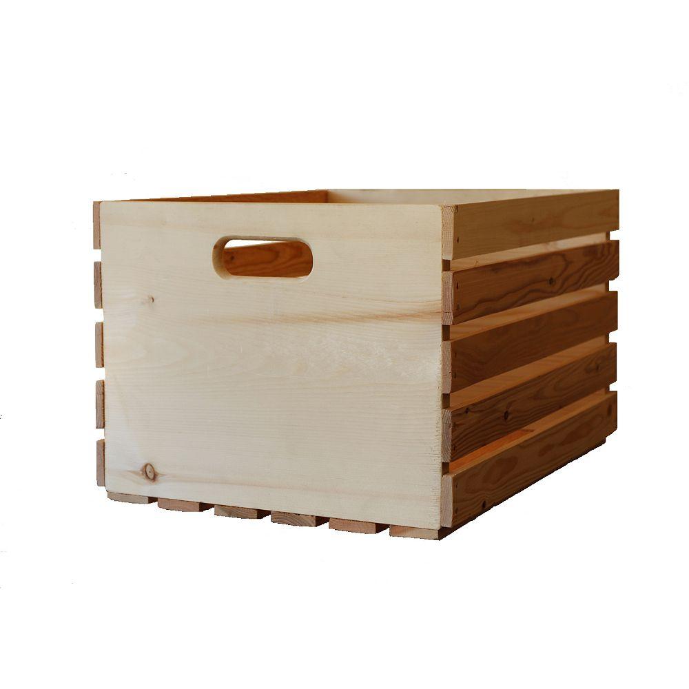 Adwood Manufacturing Ltd 20-inch H x 14.5-inch L x 11.5-inch W Natural Pine Crate