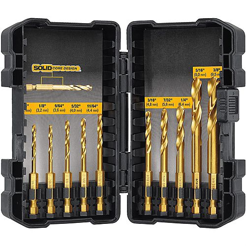 10 Piece Impact Ready Drill Bit Set