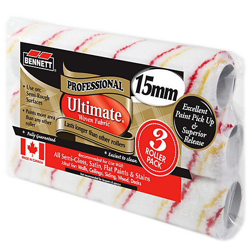3 Pack 9.5 inch Ultimate Woven Rollers, 15MM