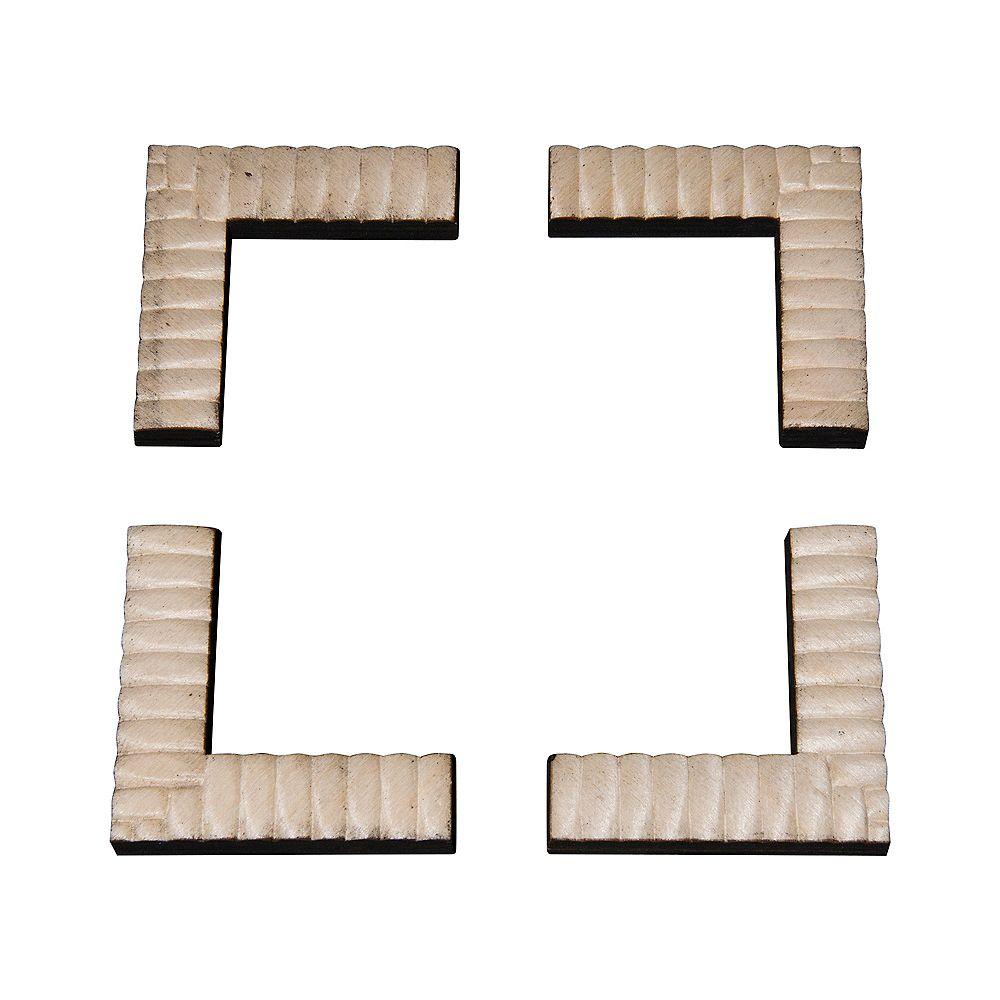 Ornamental Mouldings Équerres d'assemblage pour devant de cadre à rainure