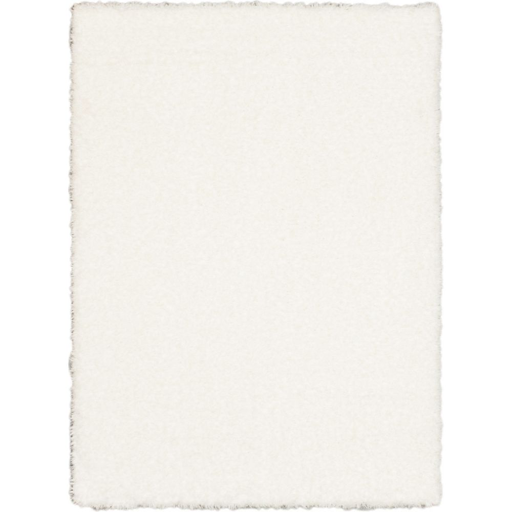 ECARPETGALLERY Uptown Shag White 7 ft. 10-inch x 10 ft. 2-inch Rectangular Area Rug