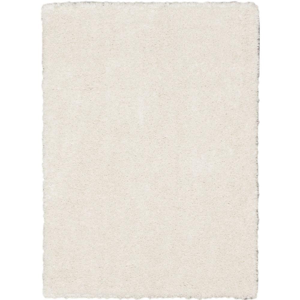 ECARPETGALLERY Uptown Shag Off-White 5 ft. 3-inch x 7 ft. 3-inch Rectangular Area Rug