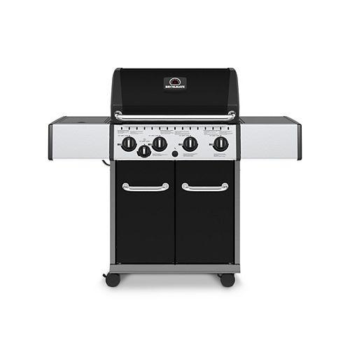 4-Burner Gas BBQ with Side-Burner in Black