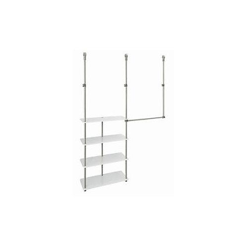 4 ft. - 8 ft. Laminate Closet Maximizer in White