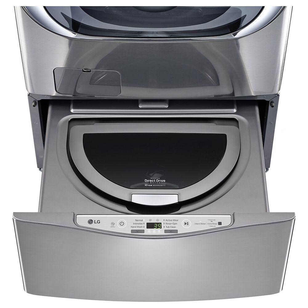 LG Electronics 27-inch 1.0 cu. ft. SideKick Pedestal Washer with TWINWash in Graphite Steel