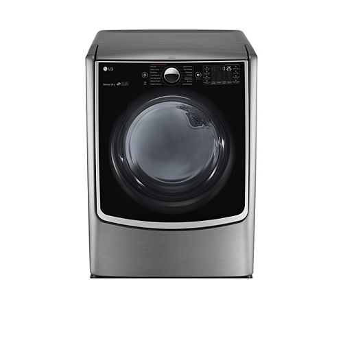 9.0 cu. ft. Electric Dryer with Mega Capacity in Graphite Steel