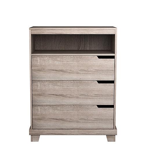Stockholm 30.5-inch x 40-inch x 15.38-inch 3-Drawer Dresser in Grey