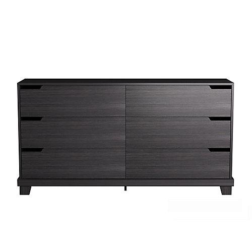 Stockholm 6-Drawer Dresser in Espresso