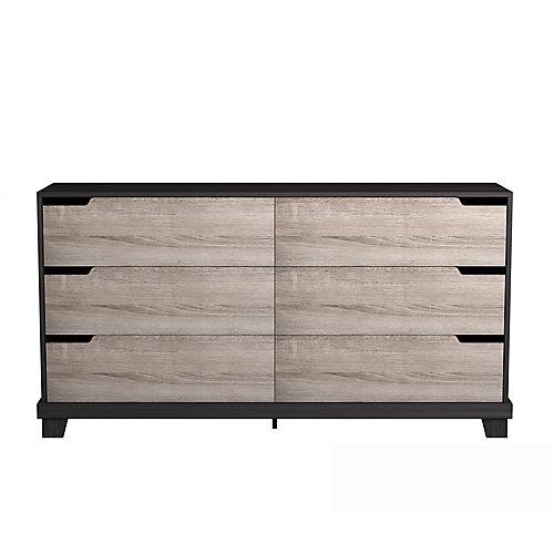 Stockholm 59.38-inch x 31.38-inch x 15.38-inch 6-Drawer Dresser in Espresso
