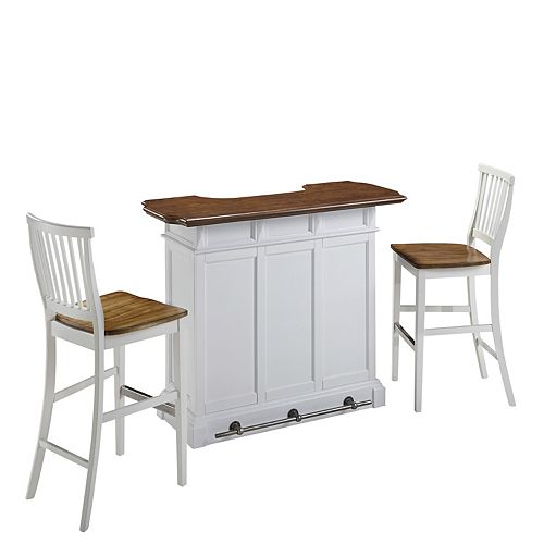 Americana White Bar and Two Stools