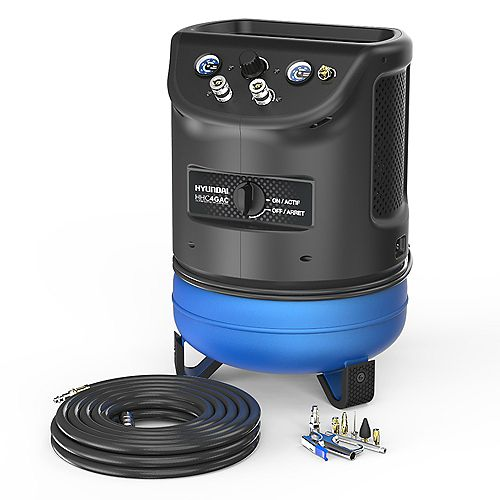 4 Gal. Portable Electric Air Compressor With Air Hose And Kit