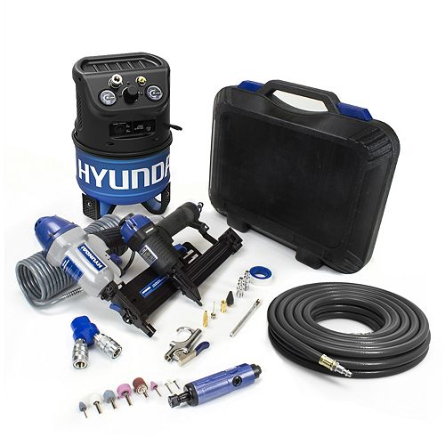 2 Gal. Portable Electric Air Compressor With 7-Tool DIY Kit