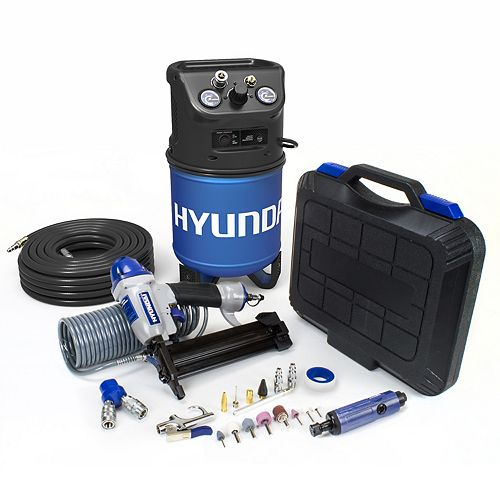 3 Gal. Portable Electric Air Compressor With 6-Tool DIY Kit