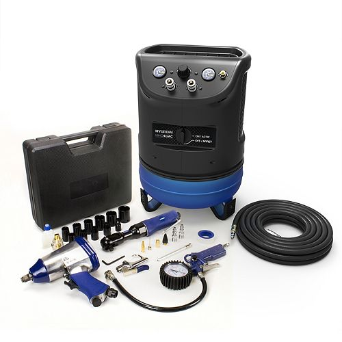 4 Gal. Portable Electric Air Compressor With 5-Tool Auto Kit