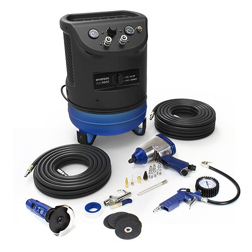 4 Gal. Portable Electric Air Compressor With 6-Tool Auto Kit