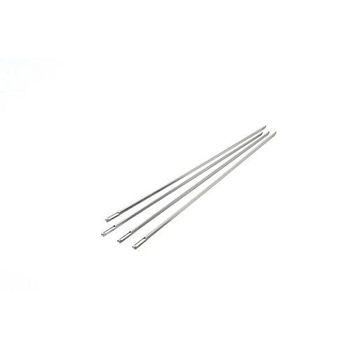 Jeu de quatre brochettes en V de 38,1 cm (15 po), en acier inoxydable