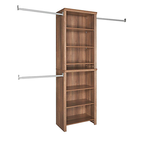 Impressions 5ft - 10ft Standard Walnut Closet Kit