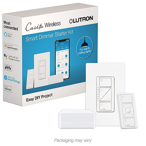 Caseta Wireless Smart Home Lighting Dimmer Switch Starter Kit