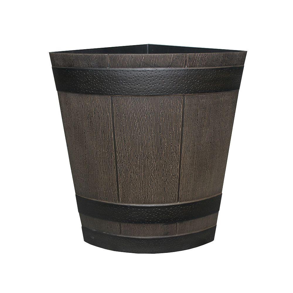 SOUTHERN PATIO 1/4 Whiskey Barrel in Kentucky Walnut