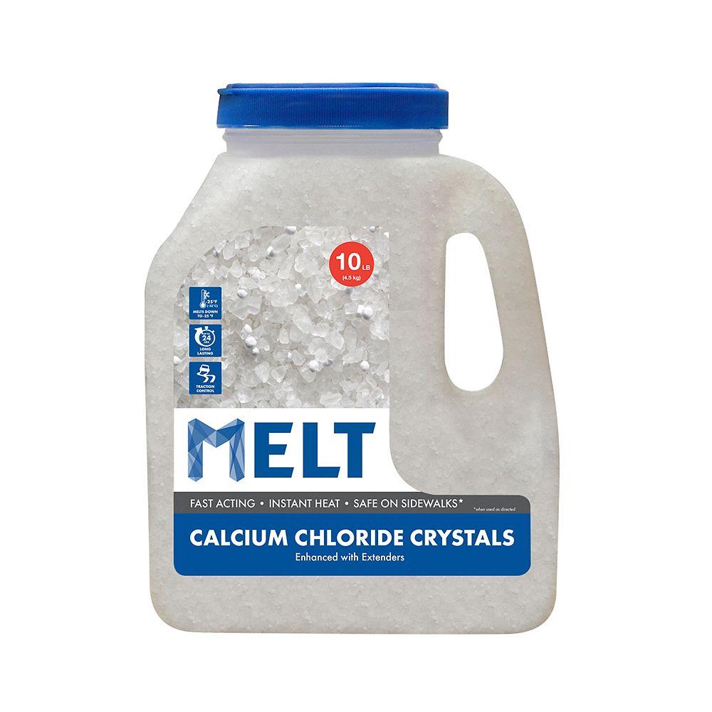 Snow Joe MELT 10 Lb. Jug Calcium Chloride Crystals Ice Melter