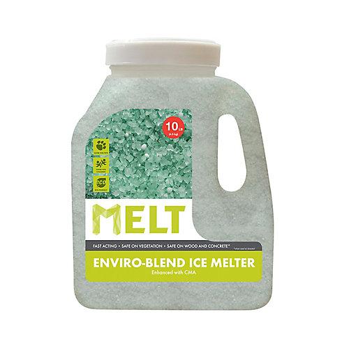 MELT 10 lb Produit de déglaçage de qualité supérieure et à formule écologique, en bidon, avec acétate de calcium-magnésium
