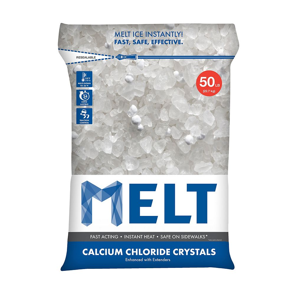 Snow Joe MELT 50 Lb. Resealable Bag Calcium Chloride Crystals Ice Melter