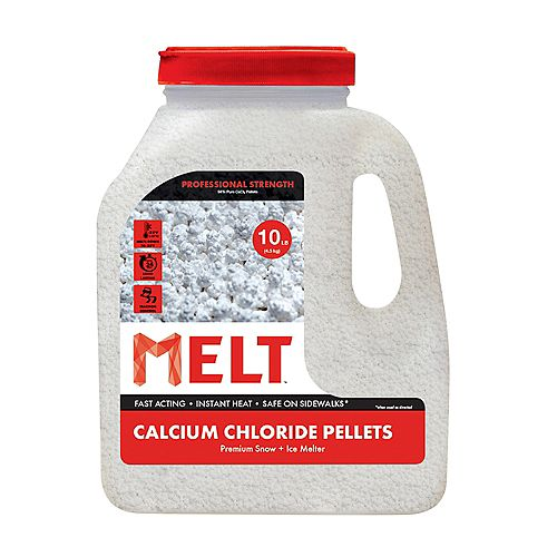 Snow Joe Melt 10-LB Calcium Chloride Pellets Ice Melter - Jug