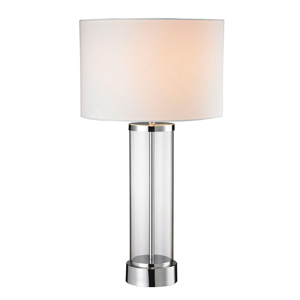 L2 Lighting 28 Inch Chrome Table Lamp
