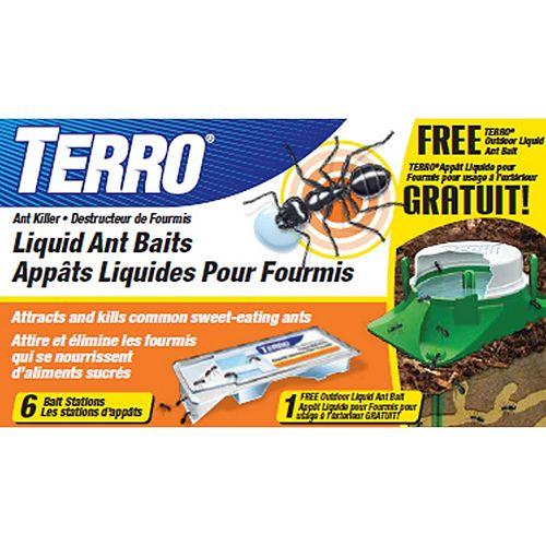 Liquid Ant Baits with FREE TERRO Outdoor Liquid Ant Bait