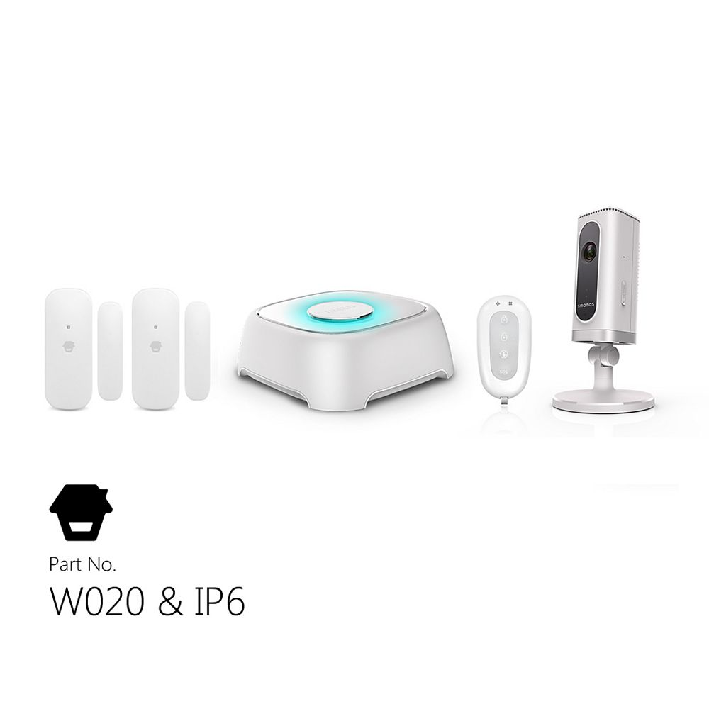 Smanos Wi-Fi Alarm System With Wi-Fi Camera, Door & Window Sensors, and Remote Control