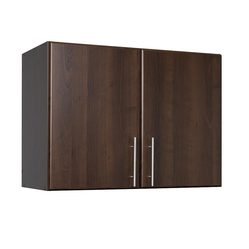 Prepac Elite 32 Stackable Wall Cabinet in Espresso