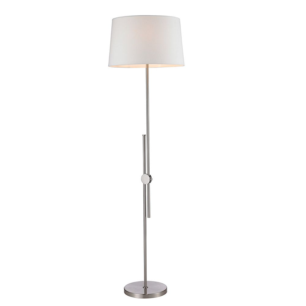 L2 Lighting Adjustable Brushed Nickel Floor Lamp
