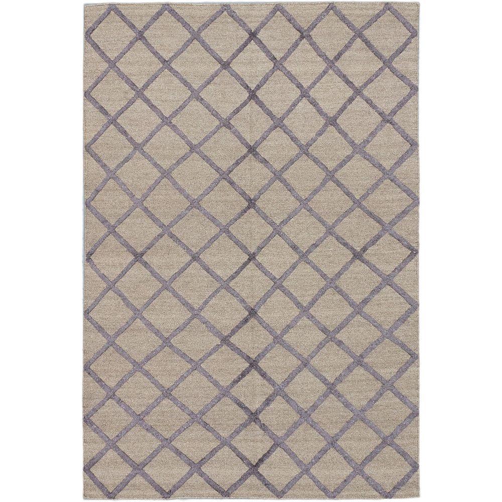 ECARPETGALLERY Diamond Chic Grey 6 ft. x Custom Length Rectangular Area Rug