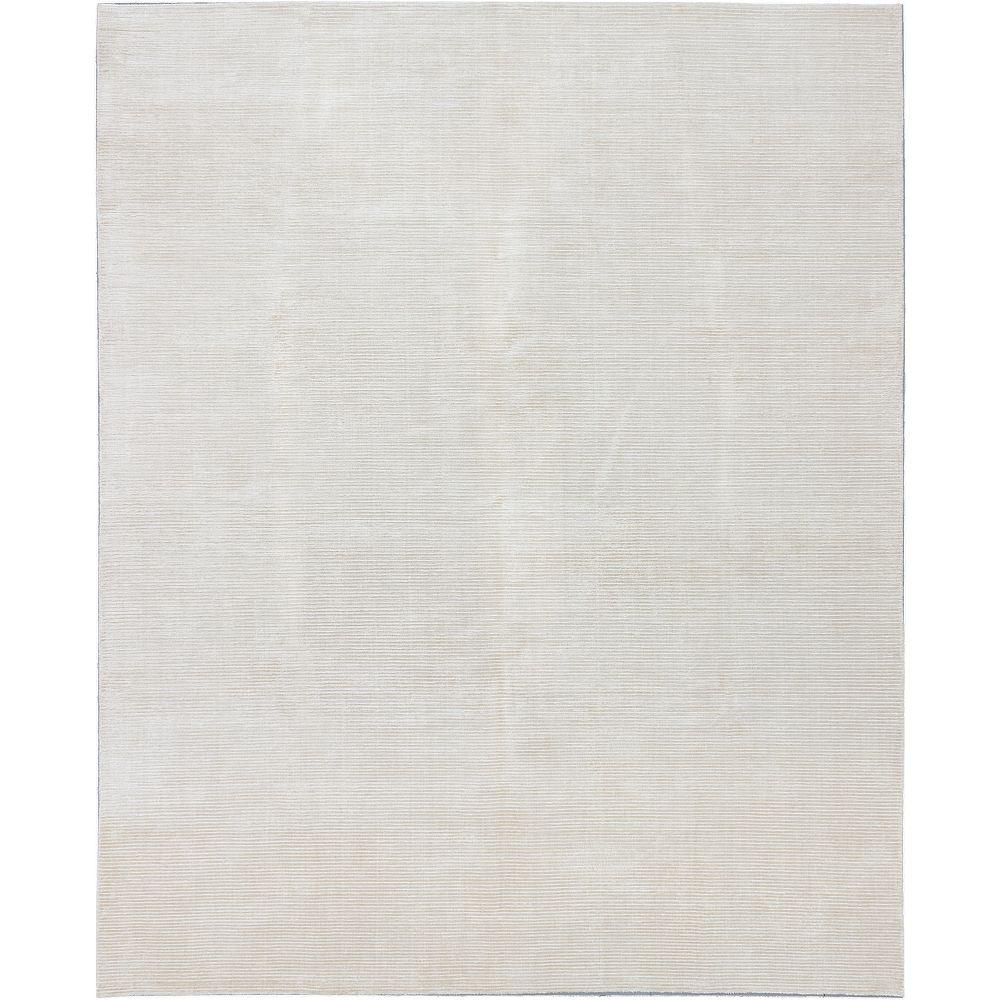 ECARPETGALLERY Shimmer Transitional Off-White 9 ft. 10-inch x Custom Length Rectangular Area Rug