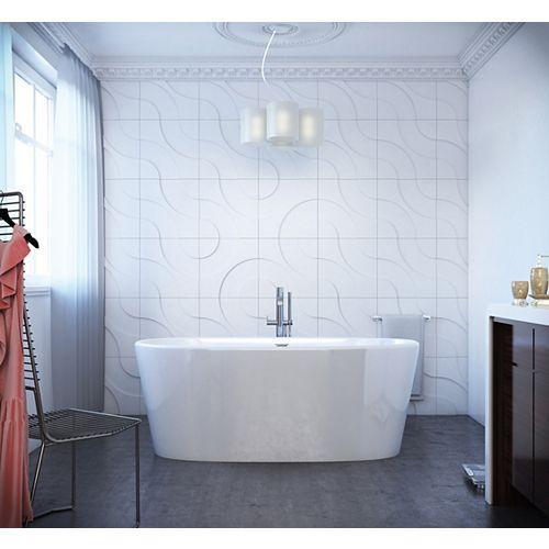 Sybil 5 Feet 2-Inch Oval Freestanding Flat-bottom Non Whirlpool Bathtub