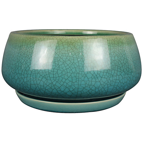 Pot à fleurs, style GEO, 10 po