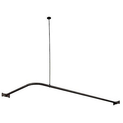 64 Inch x 27 Inch Corner Shower Rod in Oil Rubbed Bronze