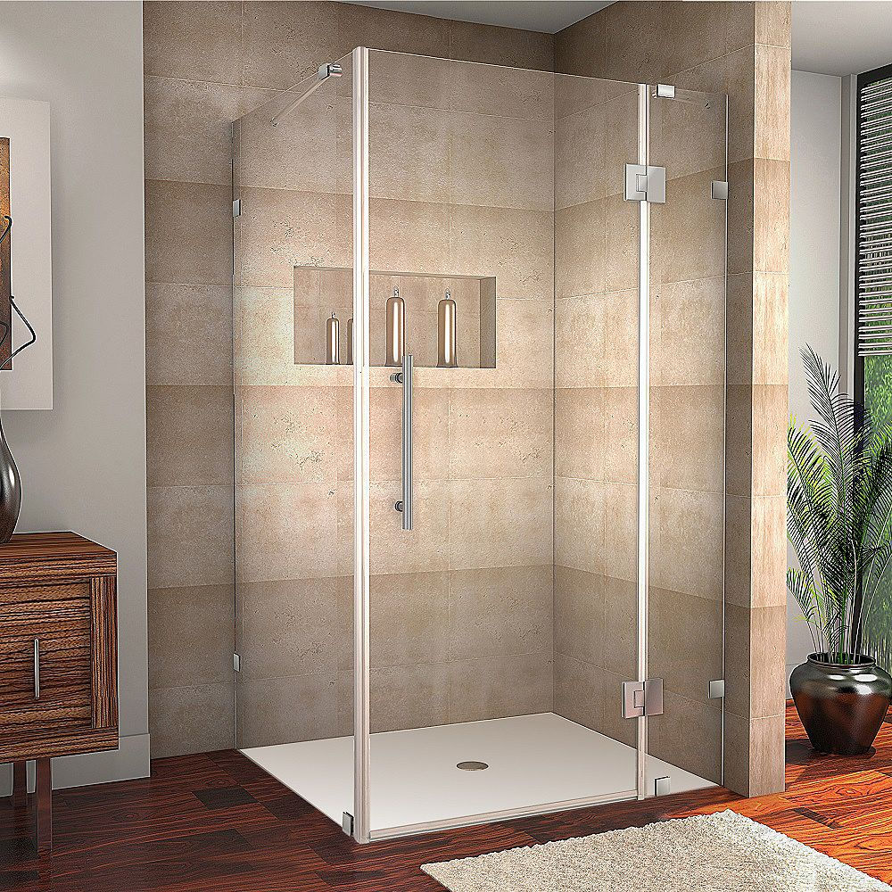 Aston Avalux 40-Inch  x 30-Inch  x 72-Inch  Frameless Shower Stall in Chrome