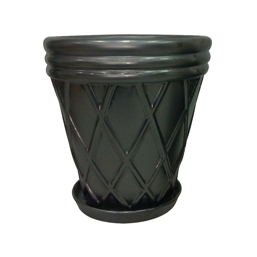 Trendspot 12-inch Tapered Lattice Planter