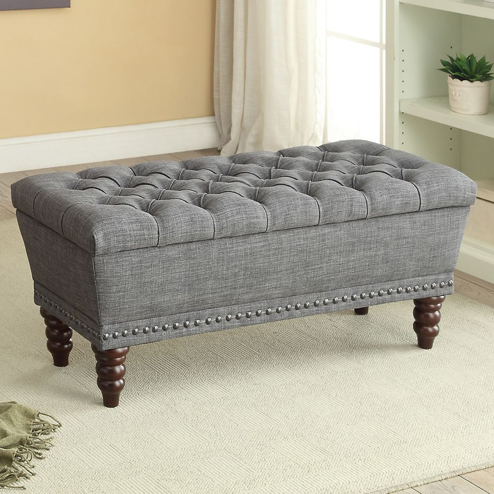 Amazing Hampton 42 25 Inch X 17 75 Inch X 17 Inch Solid Wood Frame Bench In Grey Beatyapartments Chair Design Images Beatyapartmentscom