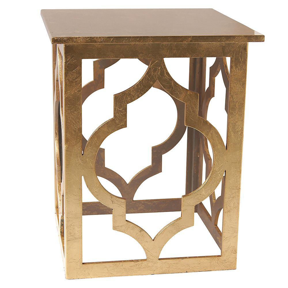 !nspire Marrakesh-Accent Table-Gold