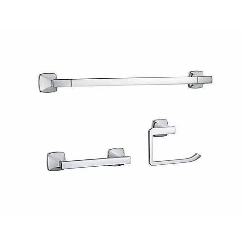 Venturi (3-Piece) Bath Accessory Kit in Polished Chrome