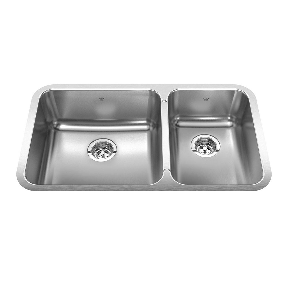 "Kindred Combination RH UM 20 Ga sink - 18-3/4"" X 32-7/8"" X 8"""