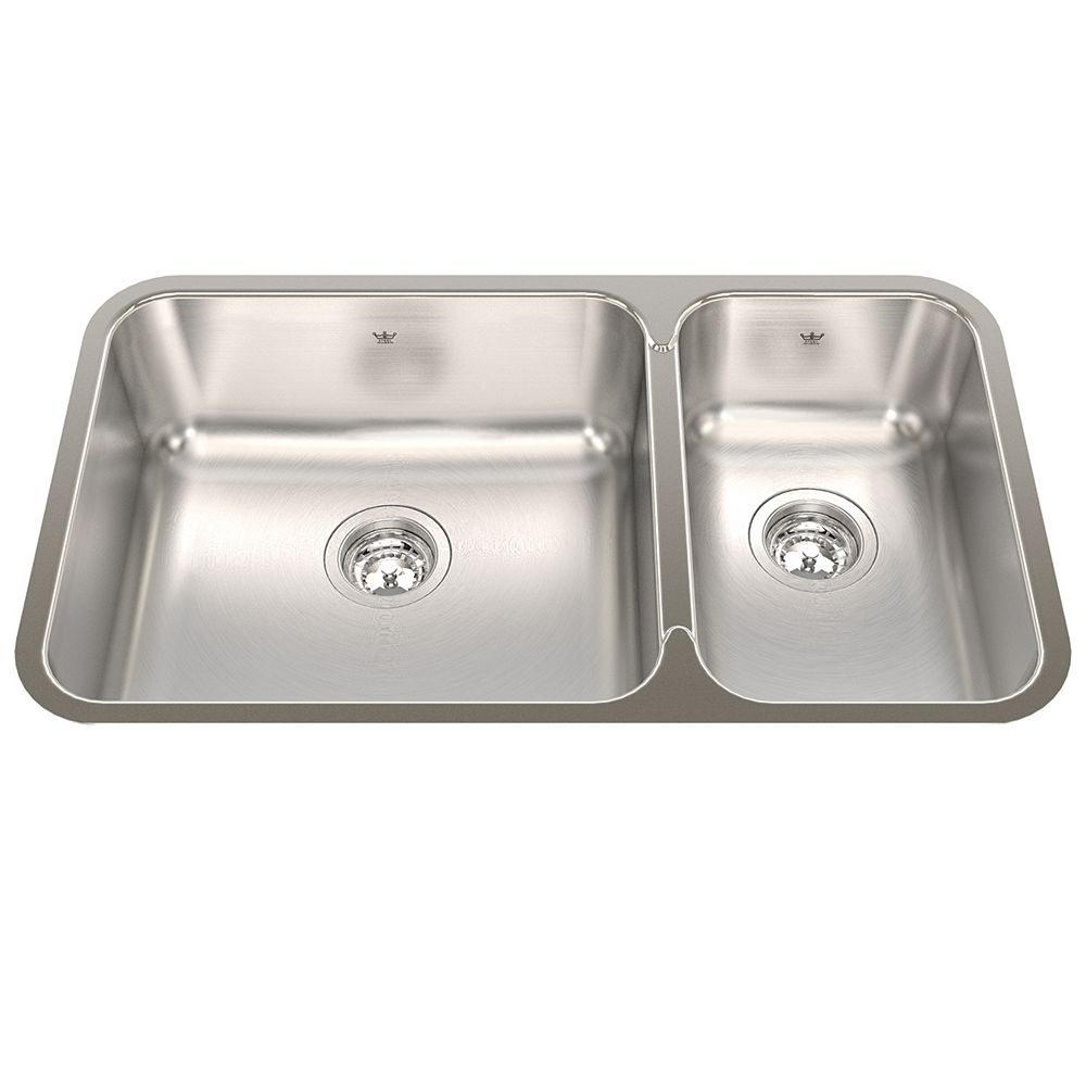 "Kindred Combination RH UM 20 Ga sink - 17-3/4"" X 30-7/8"" X 8"""