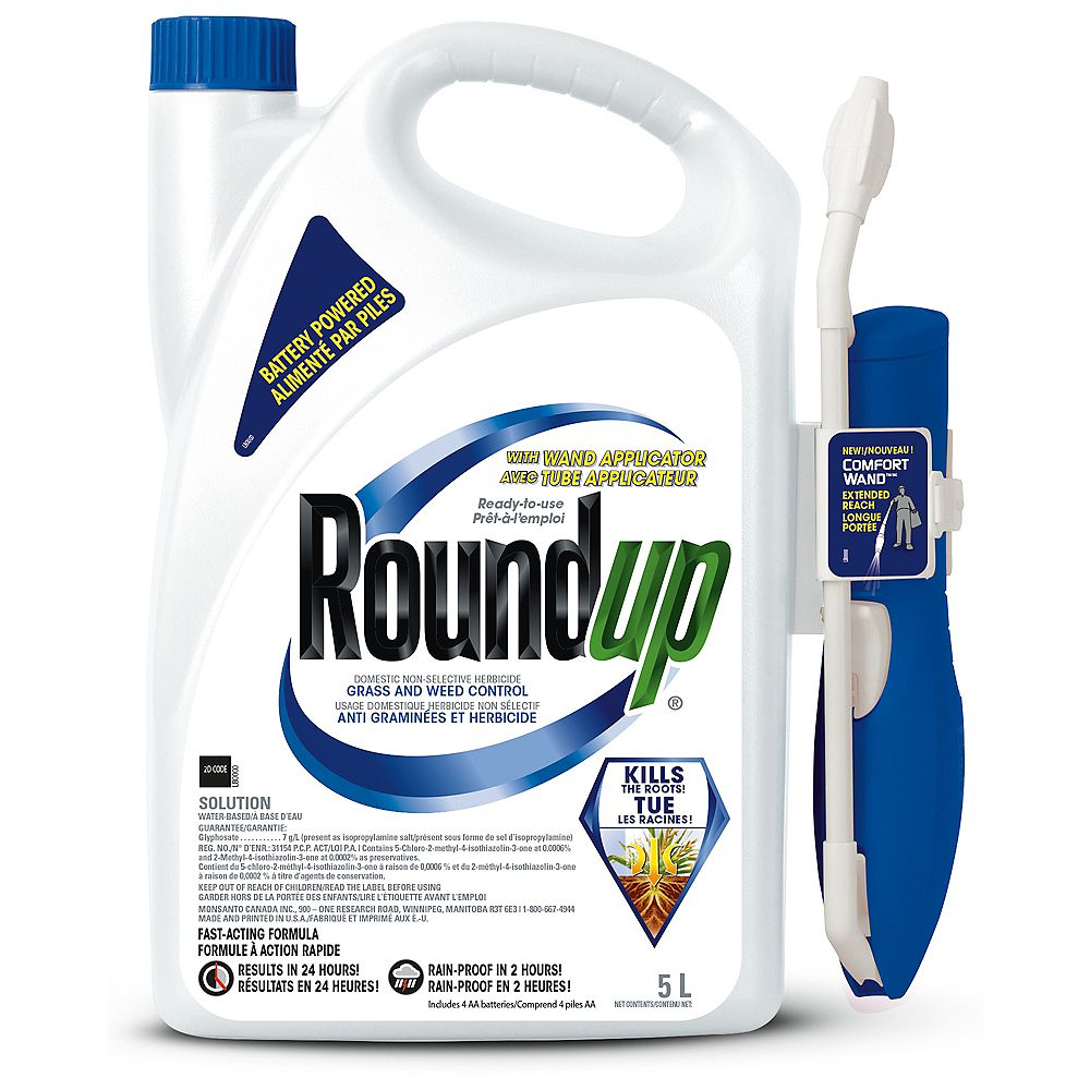 Roundup 5 L Weed Killer with Battery Powered Comfort Wand Sprayer