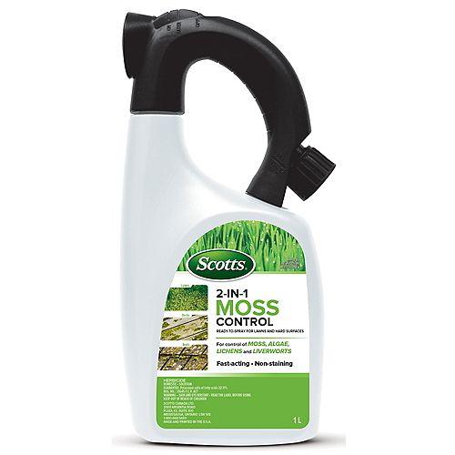 Destructeur de mousse 2 en 1 pour la pelouse et les surfaces dures Scotts<sup>®</sup> 1 L – Prêt à pulvériser