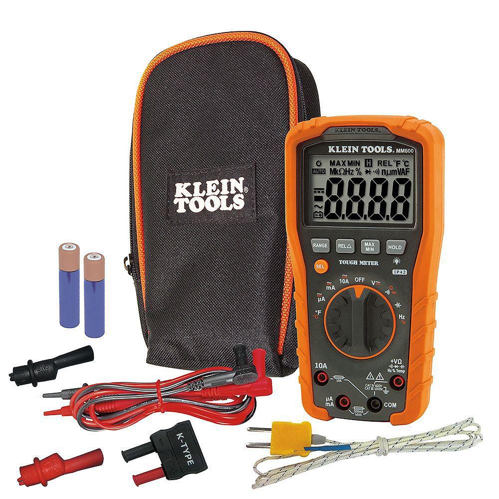 Klein Tools Multimètre numérique, à échelle automatique, 1000V
